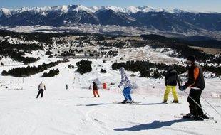 Des skieurs à Font-Romeu, en février 2012.