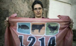 """Brigitte Gothiàre, co-fondatrice de l'association """"L214"""" le 1er mars 2016 à Lyon"""