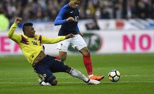 Kylian Mbappé n'a pas réussi à prendre le dessus sur la défense colombienne.