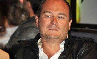 Cauet lors de la conference de presse pour le  festival «L'humour en Capitales», au Rex Club à Paris, le 27 avril 2011.