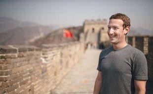 Mark Zuckerberg à la Muraille de Chine, le 18 mars 2016.