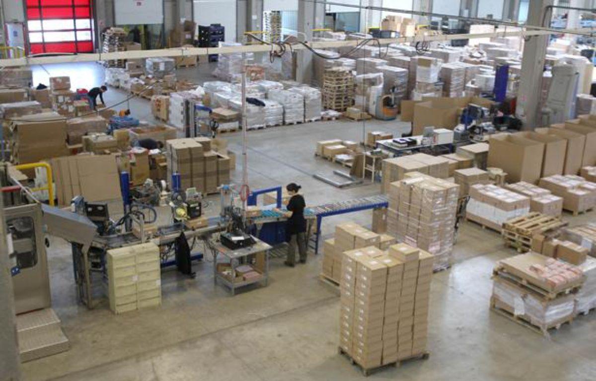 Entrepotà Beauvais dusite Sarenza.com, ETM de 100 salariés qui realisait en 201180 millions d'euros de chiffre d'affaires soit 4 fois plus qu'en 2008. – CHESNOT/SIPA