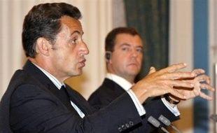 """Le document proposé par M. Sarkozy a été modifié à la demande de Tbilissi qui juge """"inacceptable"""" de discuter du statut des deux territoires."""