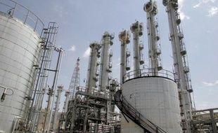 L'usine de production d'eau lourde d'Arak, à 320 km au sud de Téhéran, en Iran