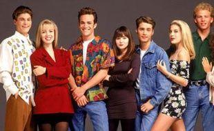 Les héros de la série «Beverly Hills 90210»