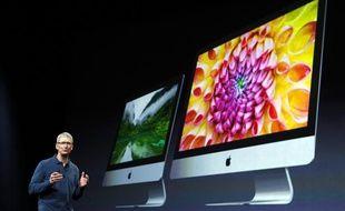 Tim Cook présente les nouveaux modèles d'iMac, lors de la Keynote du 23 octobre 2012 àSan Jose.