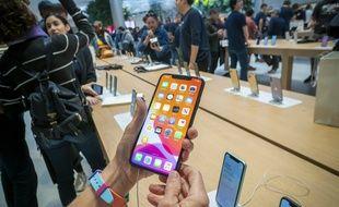 Lancement de l'iPhone 11 Max Pro, le 20 septembre 2019 à New York.