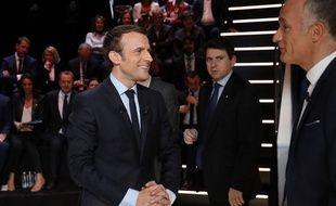 Emmanuel Macron lors du premier débat télévisé sur TF1.