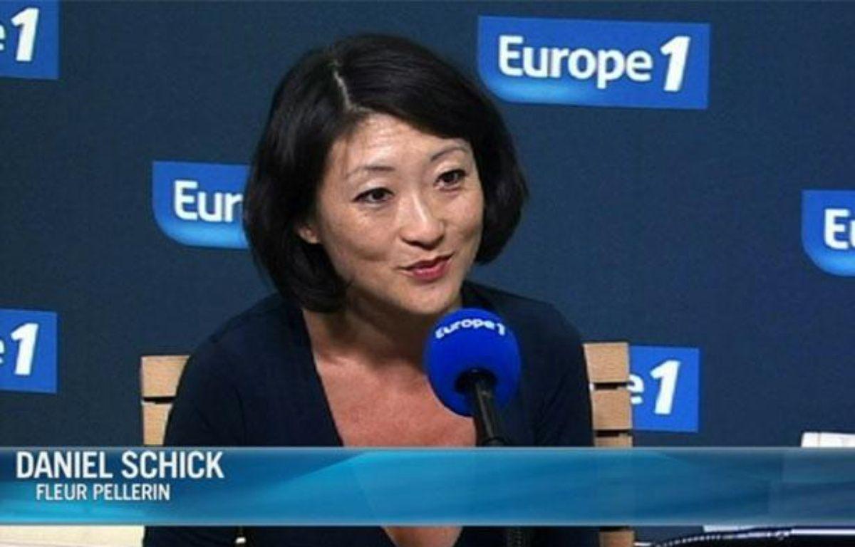 Fleur Pellerin interrogée sur Europe 1 par Daniel Schick, le 23 juillet 2012. – CAPTURE D'ECRAN / 20 MINUTES