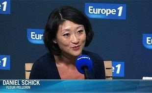 Fleur Pellerin interrogée sur Europe 1 par Daniel Schick, le 23 juillet 2012.