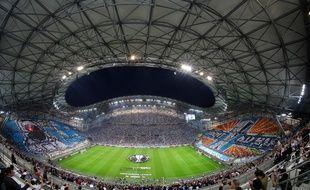 Le stade Vélodrome lors du match OM-Salzbourg, en Ligue Europa.