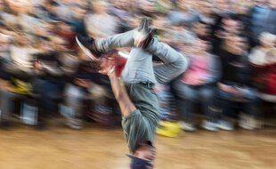 Un championnat de breakdance en Allemagne.