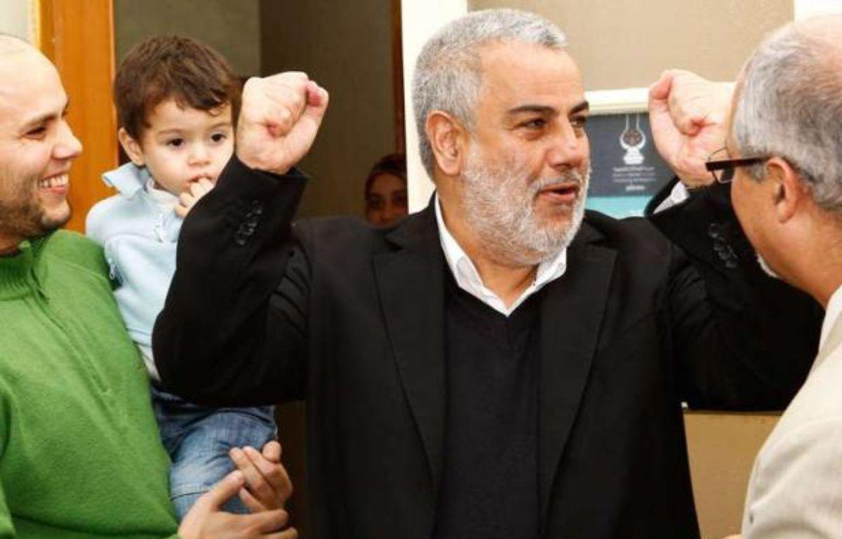 Abdelilah Benkirane, le leader du Parti justice et développement (PJD), le 27 novembre 2011, au soir de la victoire de son parti aux élections législatives marocaines. – Abdeljalil Bounhar/AP/SIPA