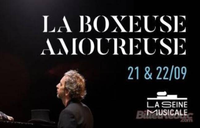 Marie-Agnès Gillot et Arthur H dans La boxeuse amoureuse