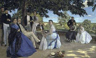 Family Reunion   (Reunion de Famille)   1867/  Jean Frederic Bazille 1841-1870/French   Oil on Canvas   Musee d'Orsay, Paris /1158-758