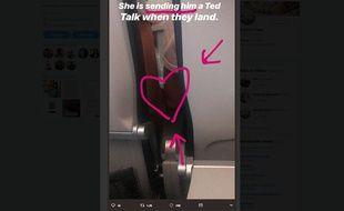 Rosey Blair a narré sur Twitter la rencontre de deux inconnus sur son vol.