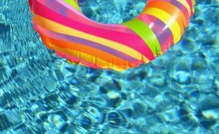Illustration d'une bouée dans une piscine.