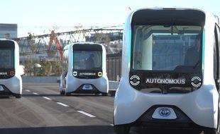 Toyota dévoile ses navettes autonomes