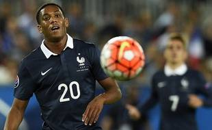 Anthony Martial lors de France-Serbie le 7 septembre 2015.