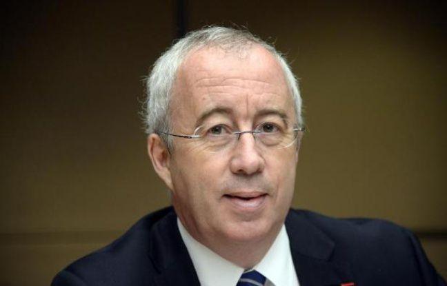 Luc Oursel, président du directoire d'Areva, le 20 mai 2014, lors d'une audition devant la commission d'enquête parlementaire sur les coûts du nucléaire