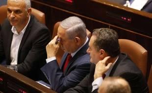 Le Premier ministre israélien Benjamin Netanyahou avant le vote à la Knesset, le 29 mai 2019.
