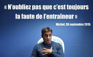 Michel, coach de l'Olympique de Marseille, roi de la punchline de mauvaise foi.