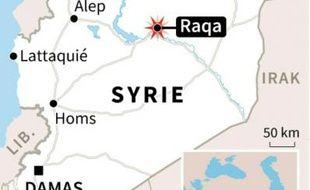 Syrie: carte de localisation de Raqa où l'aviation française a mené un raid sur le fief du groupe de l'Etat islamique