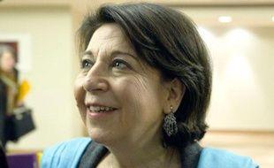 Corinne Lepage, candidate Cap21 à la présidentielle, le 20 février 2012 à Paris.