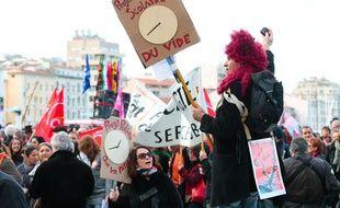 A Marseille, manifestation de la fonction publique, le 31 janvier 2013.