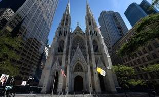 L'emblématique cathédrale Saint-Patrick de New York, le 24 septembre 2015.