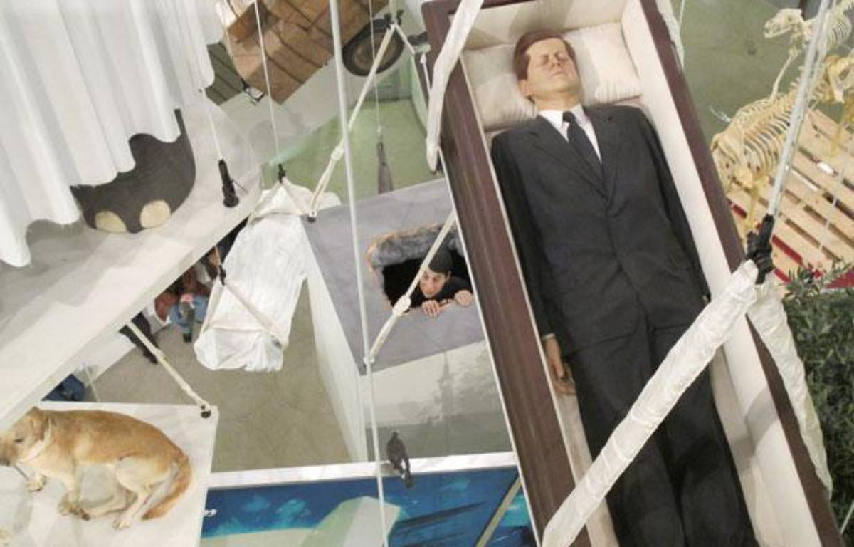 L'un des oeuvres exposées au Guggenheim de New York lors de la dernière exhibition de Maurizio Cattelan, en janvier 2012. – BENJAMIN CHAPON/20 MINUTES