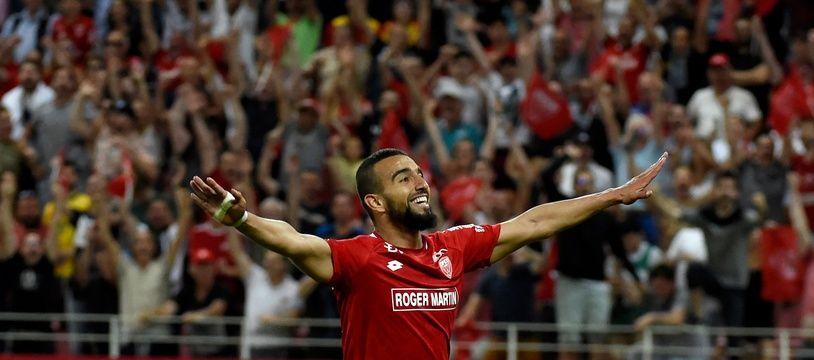 Naïm Sliti a permis à Dijon de rester en Ligue 1 grâce à son doublé face à Lens