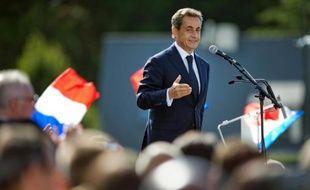 L'ex-président Nicolas Sarkozy, lors de l'université d'été des Pays de la Loire du parti Les Républicains à La Baule, le 5 septembre 2015