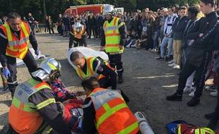 Une simulation d'accident a eu lieu mercredi matin à Nantes