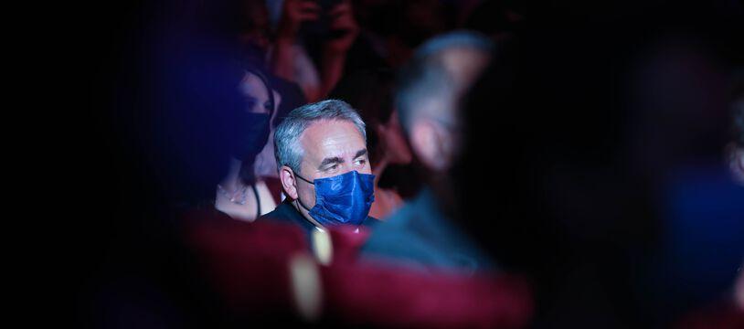Xavier Bertrand lors de la cérémonie de clôture de Série Mania à Lille.