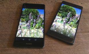Le Huawei P9 face au Sony Xperia X, deux photophones haut de gamme.