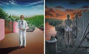 La pochette de l'album «Hollywood», de Johnny Hallyday, sorti en 1979.