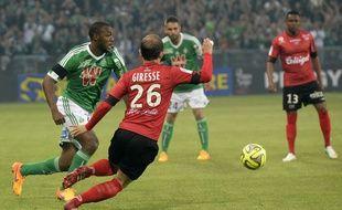 Kévin Téophile-Catherine et les Verts ont eu beau l'emporter (2-1) face à Guingamp, ils restent à la cinquième place.