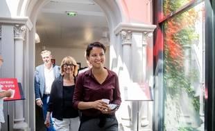 Najat Vallaud-Belkacem lors du premier tour des élections législatives, le 11 juin 2017 à Villeurbanne.