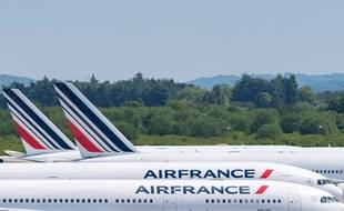 Des avions Air France posés sur le tarmac d'un aéroport (image d'illustration).