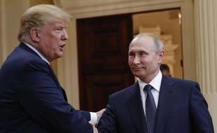 Donald Trump et Vladimir Poutine à Helsinki le 16 juillet 2018.