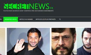 Les « dernières infos » selon le site parodique Secret News.