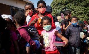 Des enfants à Johannesburg, le 18 juillet 2020.