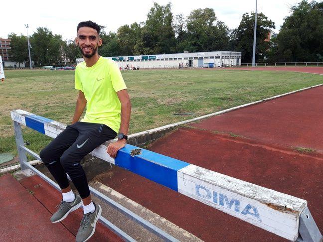 Djilali Bedrani lors d'un entraînement au stade Daniel-Faucher de Toulouse, le 24 septembre 2019.