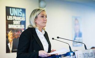 Marine Le Pen, le 7 janvier 2013 à au siège du FN à Nanterre.
