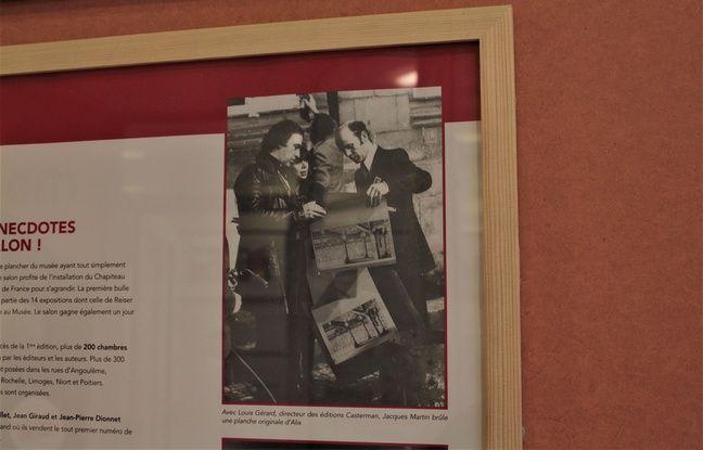 En 1975, Jacques Martin brûle une planche originale d'Alix.