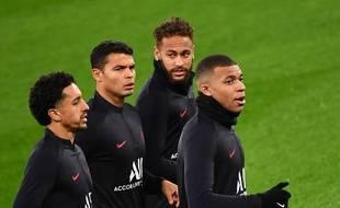 Les Parisiens à l'entraînement au stade Santiago-Bernabeu, le 25 novembre 2019.