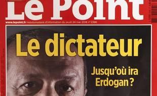 La Une du «Point» sur Erdogan.