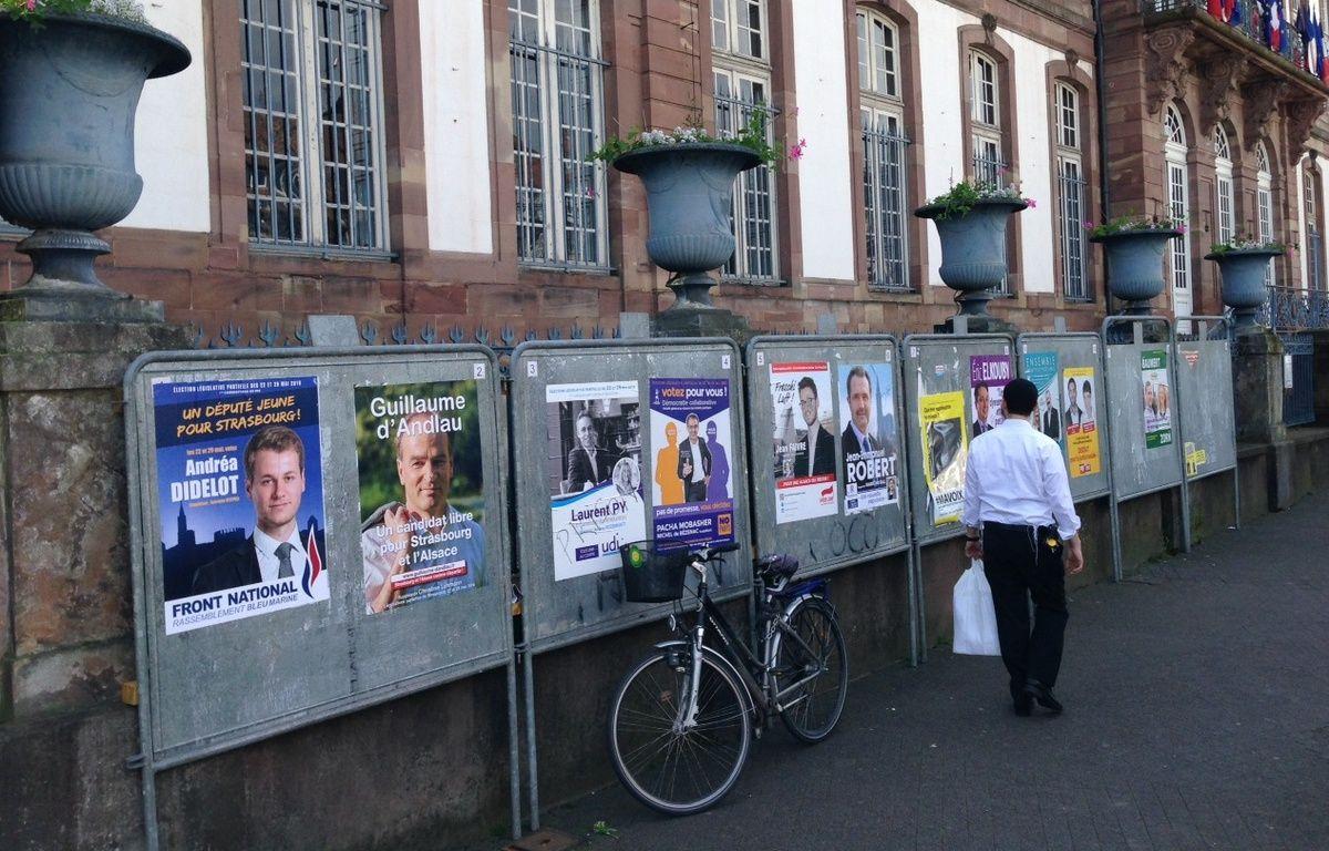 Strasbourg, le 20 mai 2015. - Quatorze candidats briguent le poste de député de la 1re circonscription du Bas-Rhin à Strasbourg après la démission d'Armand Jung (PS) en février 2016. Les élections législatives se tiennent les 22 et 29 mai 2016. – Fanny Hardy / 20 Minutes