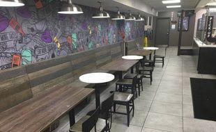 Un restaurant vide à New York, le 15 mars 2020.